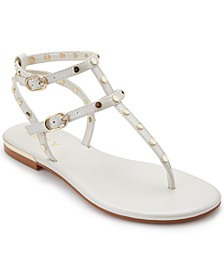 Women's Vin Studded Flat Sandals