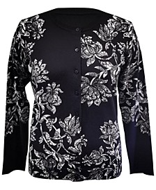Petite Lace Floral Cardigan, Created for Macy's