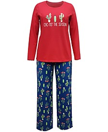 Matching Women's Cactus The Season Family Pajama Set, Created for Macy's