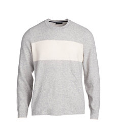 Men's Seed Stitch Colorblocked Crewneck Pullover