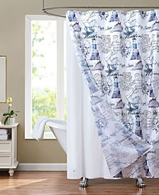 "Sunset Park Lighthouse 70"" x 72"" Shower Curtain and Liner Set, 14 Piece"