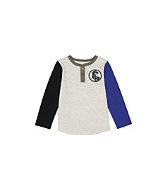 Toddler Boys Long Sleeve Icon Henley T-shirt