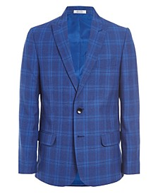 Big Boys Bold Box Plaid Suit Jacket