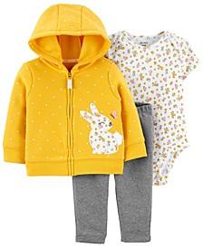 Baby Girls 3-Piece Bunny Little Jacket Set
