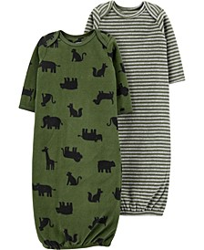 Carters Baby Boy 2-Pack Sleeper Gowns