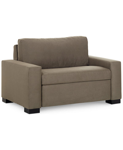 Alaina Sofa Bed Twin Sleeper 56 W x 40 D x 35 H Furniture Macys – Twin Sofa Sleeper