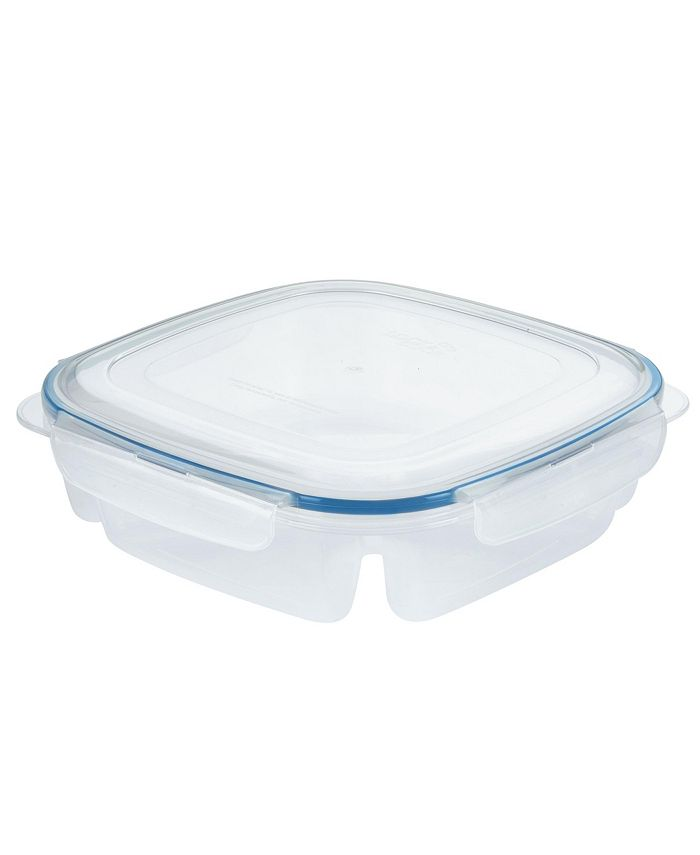 Lock n Lock - Easy Essentials On the Go Meals Square Lunch Box Food Storage Container, 50-Ounce