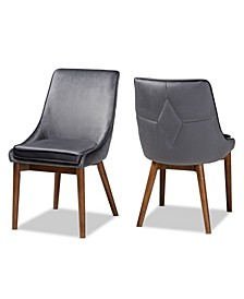 Gilmore Modern and Contemporary Dining Chair Set, Set of 2