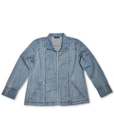 Zip Denim Jacket, Created for Macy's