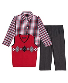Little Boys Argyle 3 Piece Sweater Set