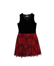Big Girls Sleeveless Velvet Party Dress