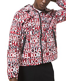 Men's Regular-Fit Logo-Print Hooded Jacket, Created for Macy's