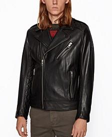 BOSS Men's Jabin Slim-Fit Biker Jacket