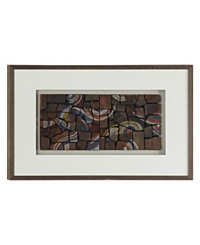 Natural Wood with Dotted Designs Shadow Box