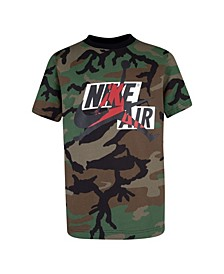 Big Boys Jumpman Classics Camo Printed Logo T-shirt