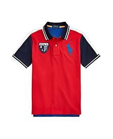 Big Boys Color-Blocked Mesh Polo Shirt