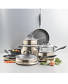 Nonstick Aluminum Champagne 12-Pc. Cookware Set, Created for Macy's