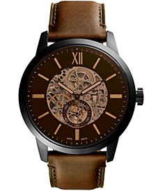 Men's Townsman Brown Leather Strap Watch 48mm