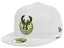 Milwaukee Bucks Sanded White 59FIFTY Cap