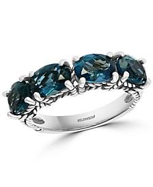 EFFY® London Blue Topaz Statement Ring (3-3/4 ct. t.w.) in Sterling Silver