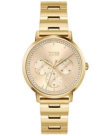 HUGO Women's Prima Gold-Tone Stainless Steel Bracelet Watch 35mm