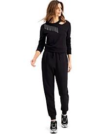 INC Embellished Cutout Sweatshirt, Created for Macy's