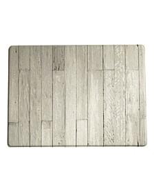 "Farmhouse Living Faux Wood Grain Rustic Comfort Anti Fatigue Kitchen Mat, 18""x30"""