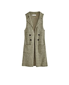 Women's Plus Size Notched Collar Sweater Vest