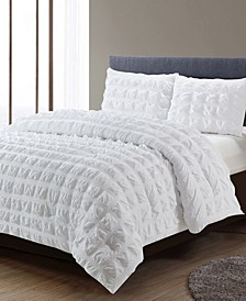 Madison Square Waffle Comforter 3 Piece Comforter Set, Full/Queen