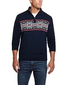 Men's Snowflake 1/4 Zip Sweater