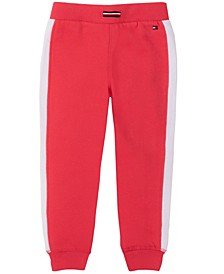 Little Girl Fleece Jogger with Side Piecing