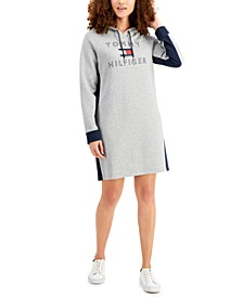 Logo Sweatshirt Hoodie Dress