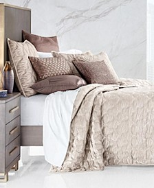 Contour Velvet King Coverlet, Created for Macy's
