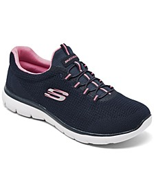 Women's Summits - Cool Classic Wide Width Athletic Walking Sneakers from Finish Line