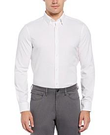 Men's Long Sleeve Slim Poly Check Quick Dry Shirt