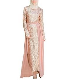 Women's Chevron Sequin Gown