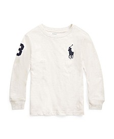 Little Boys Big Pony Jersey Long-Sleeve Tee