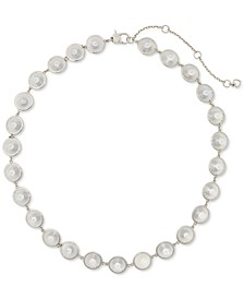 "Silver-Plated Cubic Zirconia Chandelier Collar Necklace, 16"" + 3"" extender"