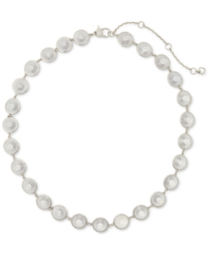 """Kate Spade Silver-plated Cubic Zirconia Chandelier Collar Necklace, 16"""" + 3"""" Extender"""