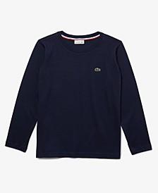 Big Boys Long Sleeve Crew Neck Cotton Jersey T-shirt