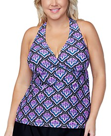 Plus Size Underwire Tankini Top, Created for Macys