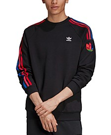 adidas Men's Originals 3D Trefoil Crewneck Sweatshirt