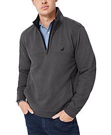 Nautica Men's Solid Quarter Zip Fleece Pullover