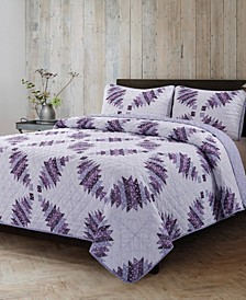 Cathedral Window Quilt 3 Piece Set, Full/Queen