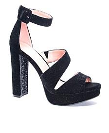 Riddle Women's Asymmetrical Platform Dress Sandals