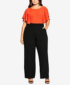 Women's Trendy Plus Size Magnetic Pant