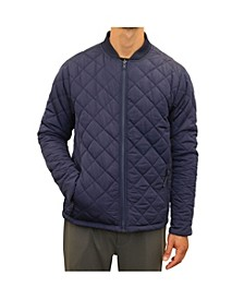 Men's Reversible Quilted Bomber Jacket