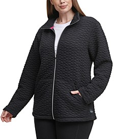 Plus Size Full-Zip Textured Jacket