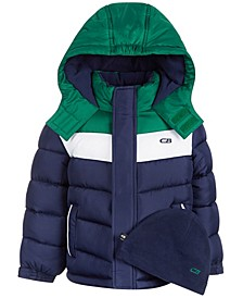 Toddler Boys Colorblocked Puffer Coat