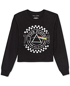 Juniors' Pink Floyd Long-Sleeved Graphic T-Shirt